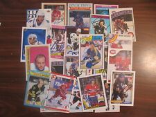 Hockey Superstars Autographed Card Collection. 31 diff. Many HOFers