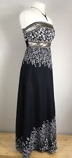 Monsoon Strapless Maxi Dress Size 8 Indian Cotton Sequinned Bandeau Full Length