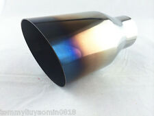 "Burnt Staineless Steel Exhaust tips Slant CUT ID65mm2.5""OD102mm4"" L178"