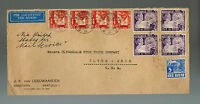 1937 Bandoeng Netherlands Indies Commercial Cover to USA