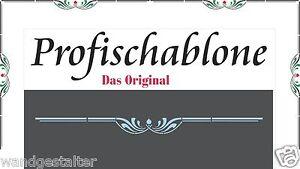 Wandschablone Malschablone Schablone Jugendstilschablone- Jugendstil Zierleiste