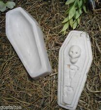 2 piece coffin plastic mold concrete plaster Halloween casket casting mould