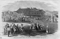 FREEDMEN PRIMARY SCHOOL AT VICKSBURG MISSISSIPPI NEGROES 1866 BLACK AMERICANA