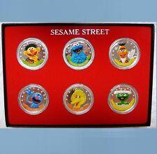 SESAME STREET SET .999 Fine Silver Coins BIG BIRD COOKIE MONSTER, great gift