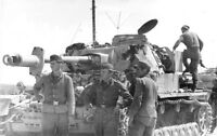 B&W WW2 Photo WWII German Pzkpfw. IV Command Panzer World War Two Wehrmacht