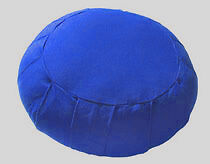 Round Cotton Zafu Royal Blue with Organic Buckwheat