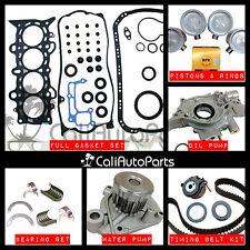 01-05 Honda Civic DX LX 1.7L D17A1 Non-VTec SOHC MASTER ENGINE REBUILD KIT