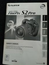 Finepix S2 Pro Camera Owners Manual