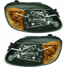 New Set of 2 Left & Right Side Headlight Lamps For Hyundai Accent 2003-2006
