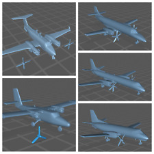1:500 1:400 1:200 3D Printed Model Aircraft