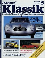Motor Klassik 1989 5/89 BMW 02 Alfa Spider Bucciali Mercedes 300 SL Porsche 356