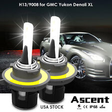 Car Front H13 9008 LED Headlight Kit Bulb 6000K For GMC Yukon Denali 2013-2007