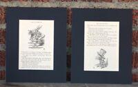 MAD HATTER vintage ALICE IN WONDERLAND Book Plates Art Print 8x10 home wall art