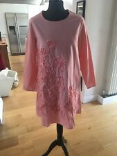 Pink Cotton Tunic Dress By Depending On The Horizon Size 10/12 BNWT