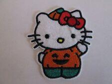 HELLO KITTY PUMPKIN COSTUME PATCH~SEW/IRON ON~USA SELLER~NEW