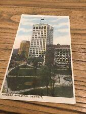 Old Postcard Kresge Building Detroit