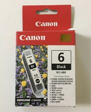 Canon BCI-6BK Black Ink Cartridge - Opened But NEW