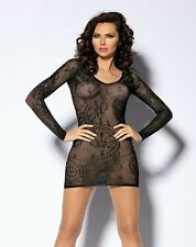 NEW LACE NET LONG SLEEVE TOP OSFA DANCE GOTHIC PUNK COSTUME FAST N FREE POST