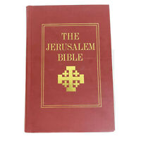 The Jerusalem Bible & Sleeve Red Vintage 1966 Doubleday Hardcover Good Condition