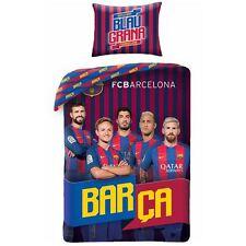 FC BARCELONA TEAM PLAYERS SINGLE DUVET COVER SET 100% COTTON REVERSIBLE OFFICIAL