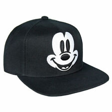 OFFICIAL DISNEY MICKEY MOUSE FACE EMBROIDERY BLACK SNAPBACK CAP