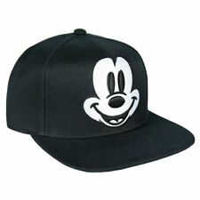 7badeebabc0 OFFICIAL DISNEY MICKEY MOUSE FACE EMBROIDERY BLACK SNAPBACK CAP