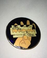 Vintage Judas Priest enamel pin Hat pinback shirt British Steel