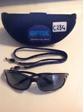 OPTIX C23G SUNGLASSES WITH CASE AND NECK CORD. (Grey Lens )