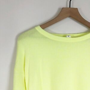 Ideology Barbell Top 3X Yellow Thumbholes LS Scoop Neck Athleisure Womens New