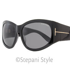 20d394d5744 Tom Ford Oval Sunglasses TF404 Felicity 01A Shiny Black FT0404