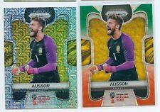 2018 Panini Prizm World Cup Alisson Mojo Green Orange Wave Lots*2 Brazil