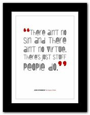 JOHN STEINBECK The Grapes of Wrath❤ book quote poster print inspirational #162