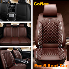Car Front&Rear Seat Cover Luxury PU Leather Universal Seat Cushion Protector