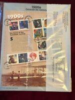 FDC by Mrs Jones Set Of 10  Celebrate The Century Souvenir Sheets CD-4
