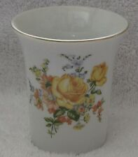 Royal Crown Yellow Flowered Cup w/ Gold trim.