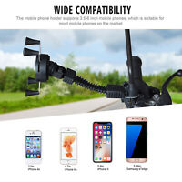 Bike Handlebar Grip Holder X-shape Fixing Bracket Mount For 3.5-6 Inch Phone