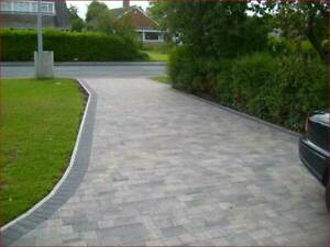 Contemporary Style 2 Size Block Paving in Graphite Blend Colour, Pk 8.35m2