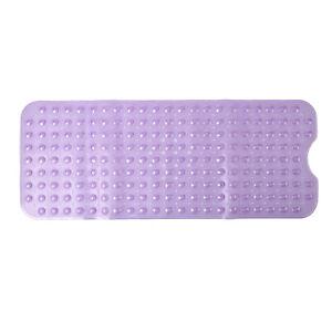 Set of 2 Light Purple Textured Pattern Non Slip Bath Tub Bathroom Shower Mat