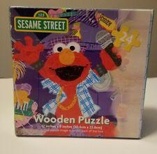 "123 SESAME STREET Wooden Jigsaw Puzzle 12"" x 9"" ELMO & Friends Rock N Roll Band"
