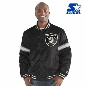 "Oakland Raiders ""LEGACY"" STARTER  Satin Jacket BLACK XL"