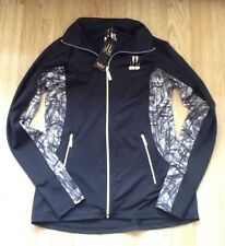 LIPSY BLACK CAMOUFLAGE TECHNICAL ACTIVEWEAR JACKET SIZE SMALL BNWT