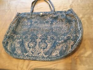 """A Fortuny Tote Bag of Considerable Age, I Believe. 18"""" Top, 29"""" Widest, 18"""" Deep"""