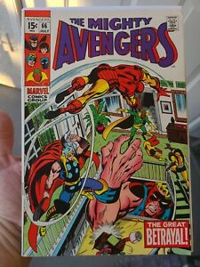 The Avengers, Vol 1, Number 66, Marvel Comic Book Lot Collection Cap Iron Man +