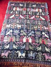 Tapis tapisserie tenture tissage artisanal Amérique du Sud 115 cm x 165 cm