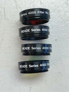 Meade Series 4000 Color Filter Set  Japan set of 4