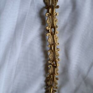 Decorative solid brass chain for hanging chandelier one meter - good condition