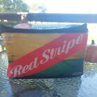 Jamaica Red Stripe Beer Cooler Lunch Bag  Insulated  Collapsible