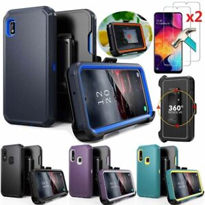 For Samsung Galaxy A10e/A20/A20S Case+Screen Protector+Belt Clip fits Otterbox