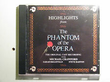 Highlights from the Phantom of the Opera 1987 CD Special Gold Edition Musical