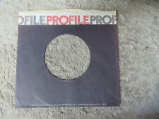 sleeve only PROFILE   45 record company sleeve only 45